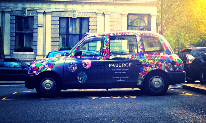 LONDON : Spotted – a diamand coated Fabergé cab
