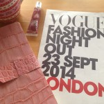 Getting ready for VOGUE Fashion's Night Out 2014