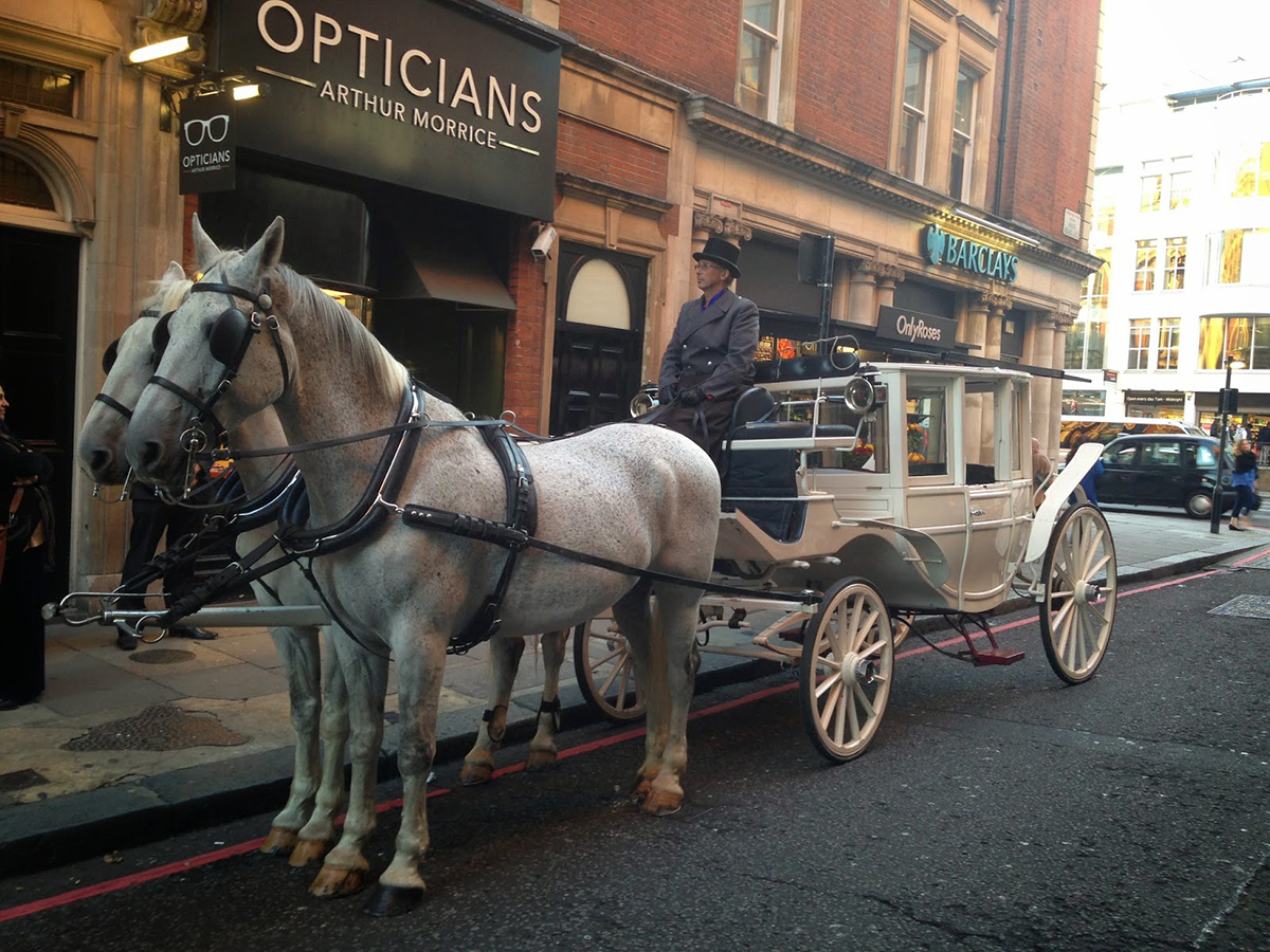 A cinderella carriage in London