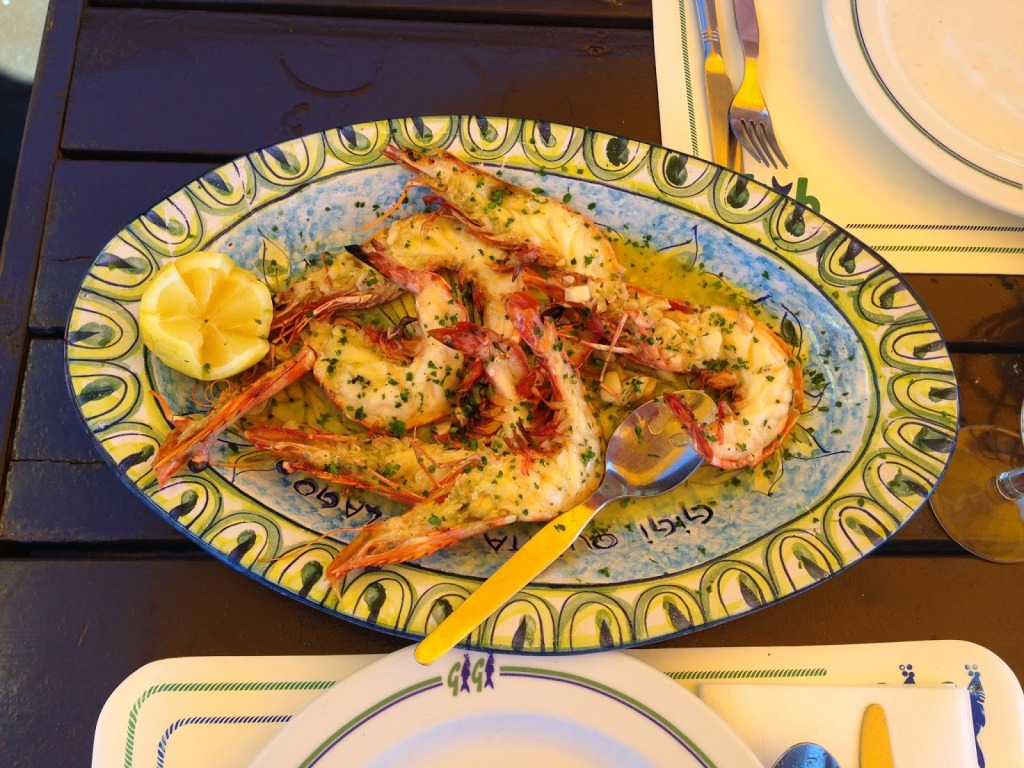 Tiger Prawns with Lemon Garlic Sauce