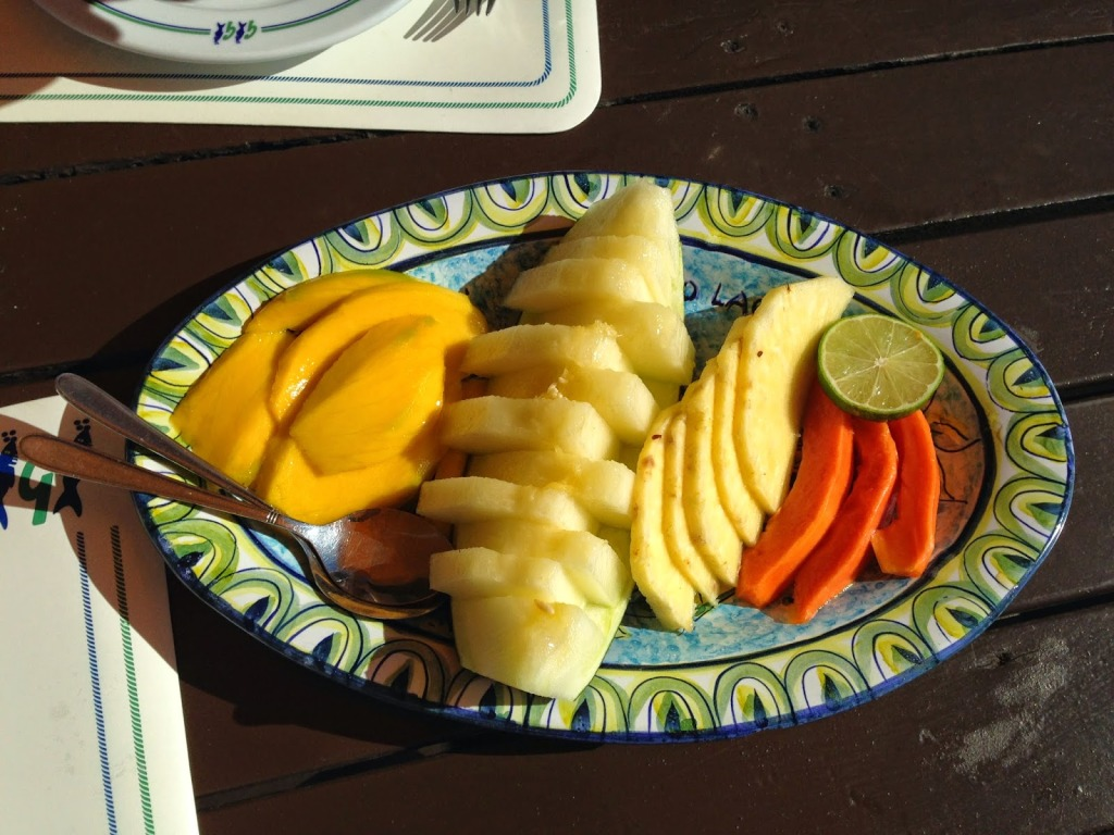 Exotic Fruit Plate as a Dessert