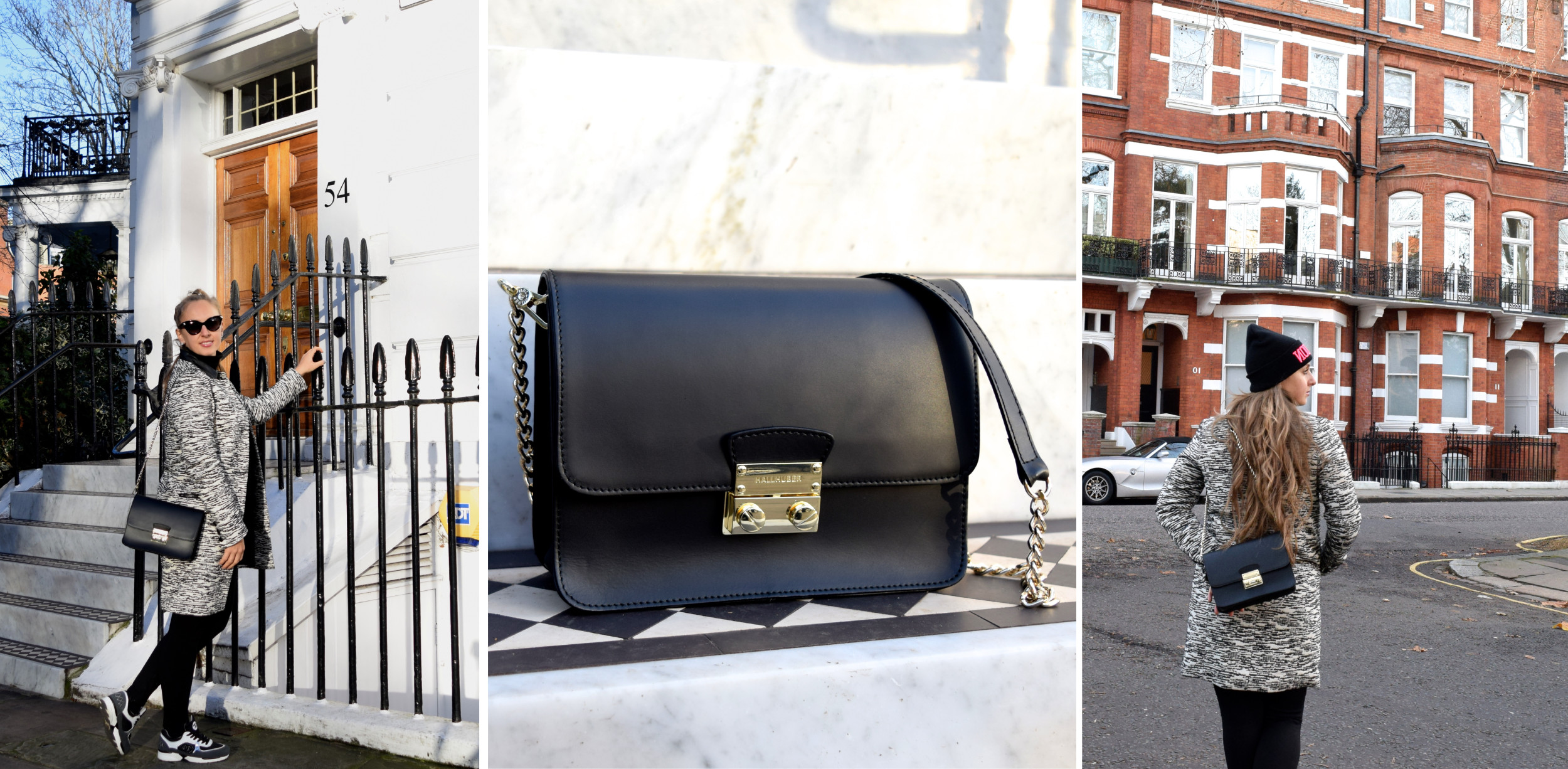 Hallhuber Leather Bag in London - ootd Cityfreudeblog