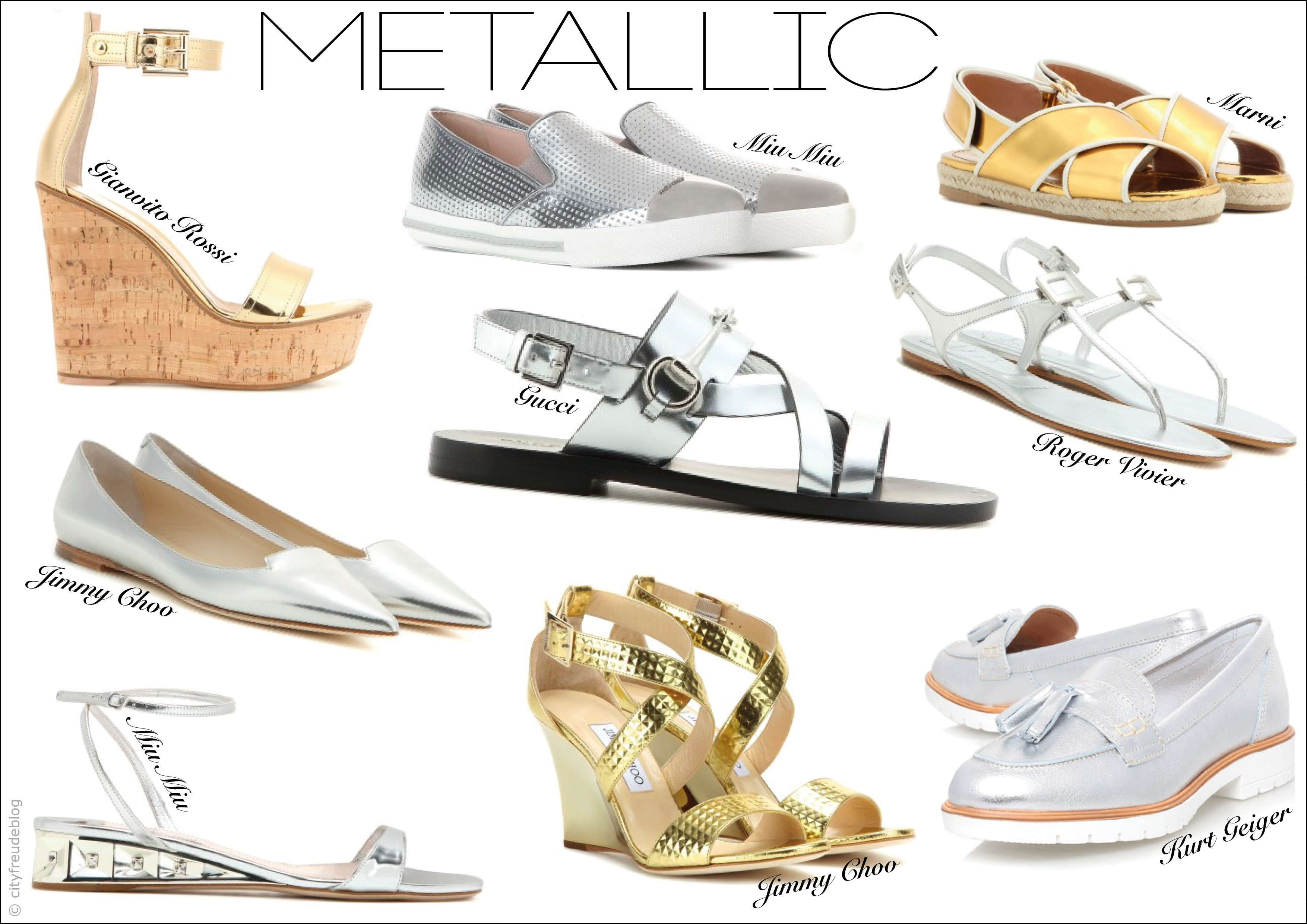 Metallic Fashion Trend. Leave a comment. Then you can try on metallic shoes, nail posh, sexy shiny clutches, etc. A shiny metallic clothing piece will underline your individuality. You can go for a metallic top, statement pleated skirt, cropped pants, midi skirt or mini skirt. If you want to underline your sophistication, then you should go.
