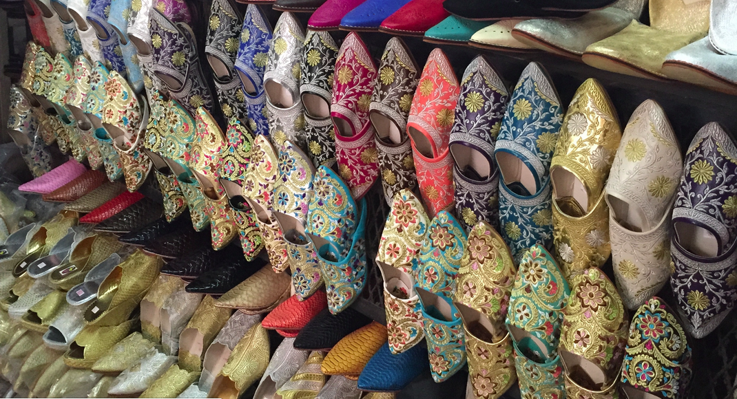 Moroccan Shoes from the Souk